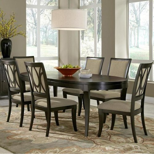 Samuel Lawrence Aura Table with Side Chairs and Tapered Legs