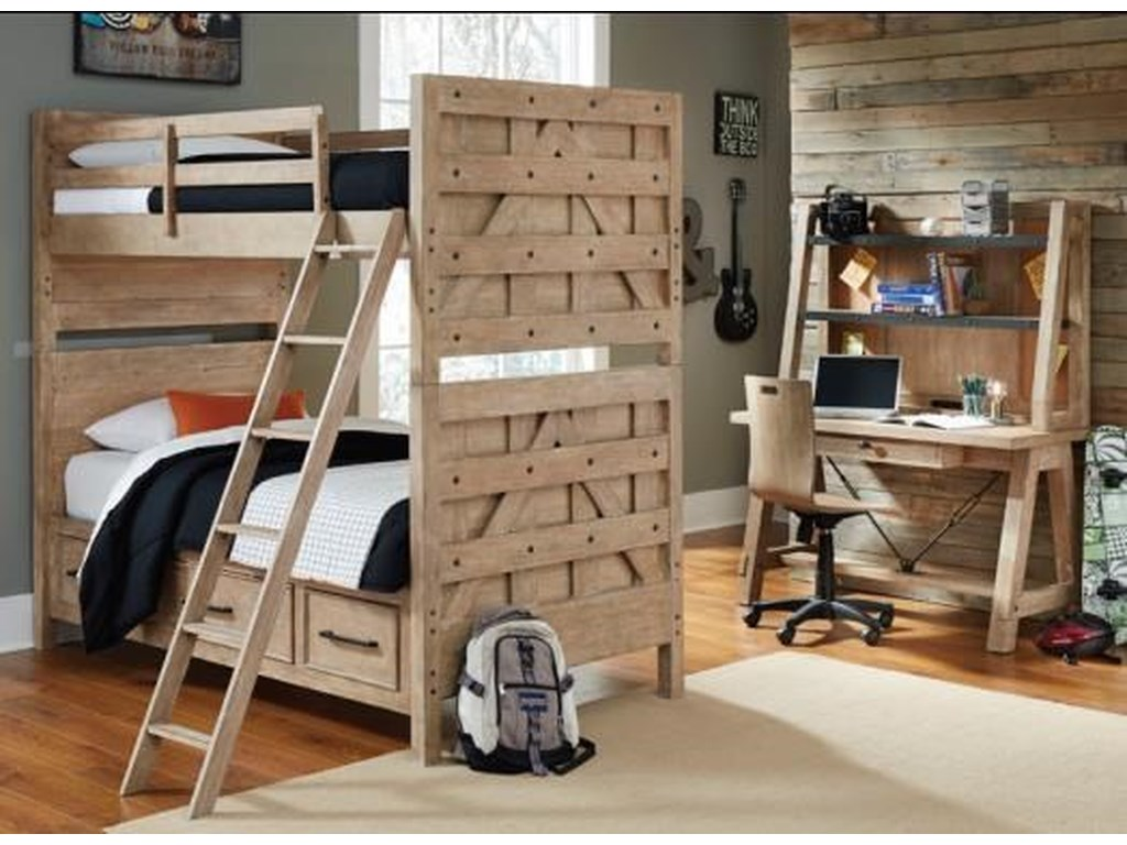 Samuel Lawrence AustinTwin-Over-Twin Bunk Bed Bedroom Group