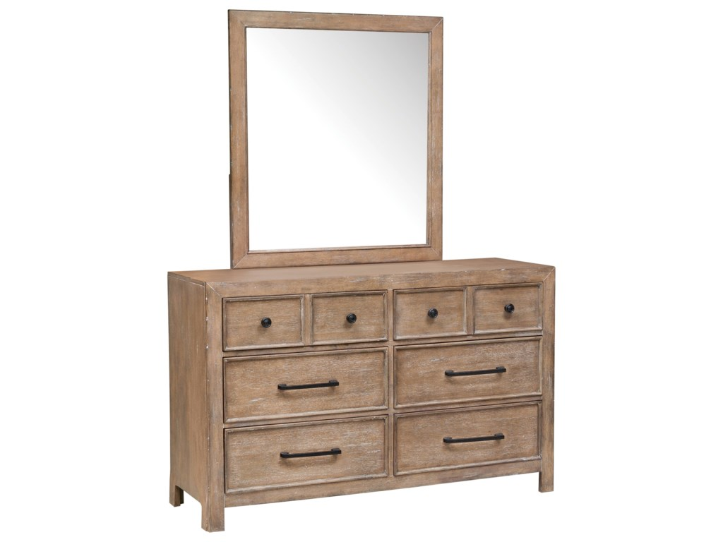 Samuel Lawrence AustinDresser and Mirror Combo