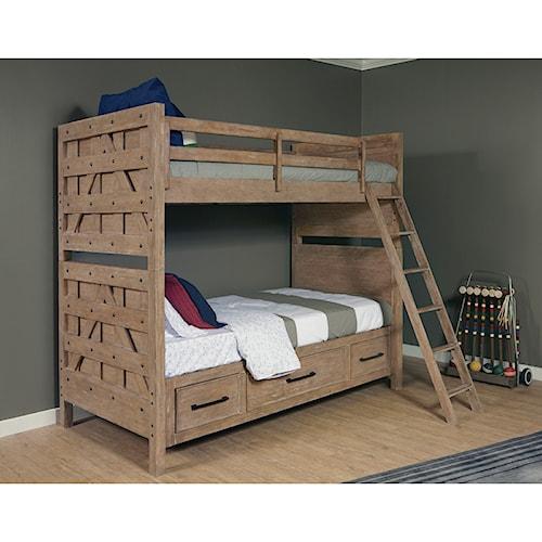 Samuel Lawrence Austin Bunk Bed with Trundle Storage Unit ...