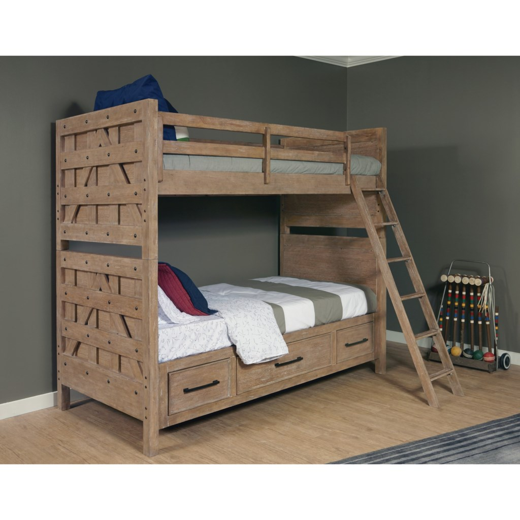 Samuel Lawrence Austin Bunk Bed With Trundle Storage Unit Miskelly