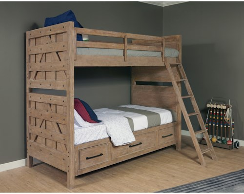 Samuel Lawrence Austin Bunk Bed with Trundle Storage Unit ...
