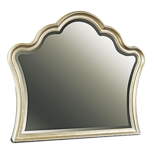 Samuel Lawrence Avanti Shaped Beveled Mirror