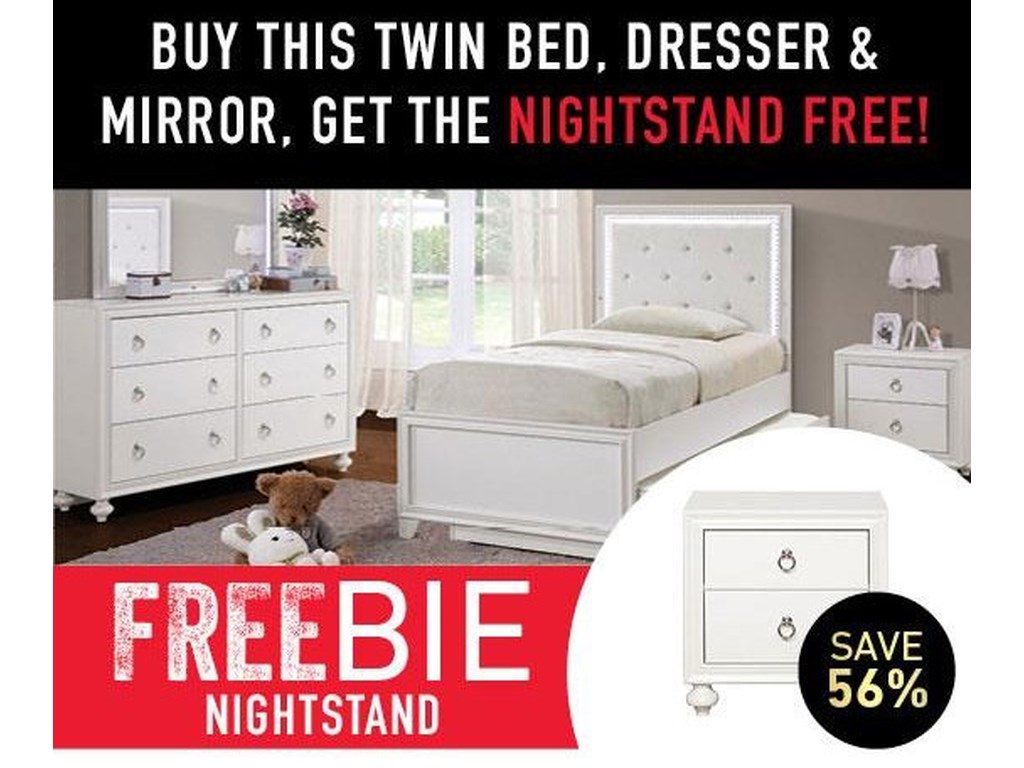 Samuel Lawrence BritBrit Twin Bed Package with Freebie!