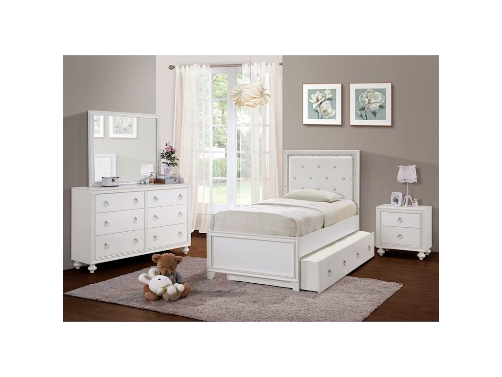 Samuel Lawrence Bella WhiteFull Upholstered Bed