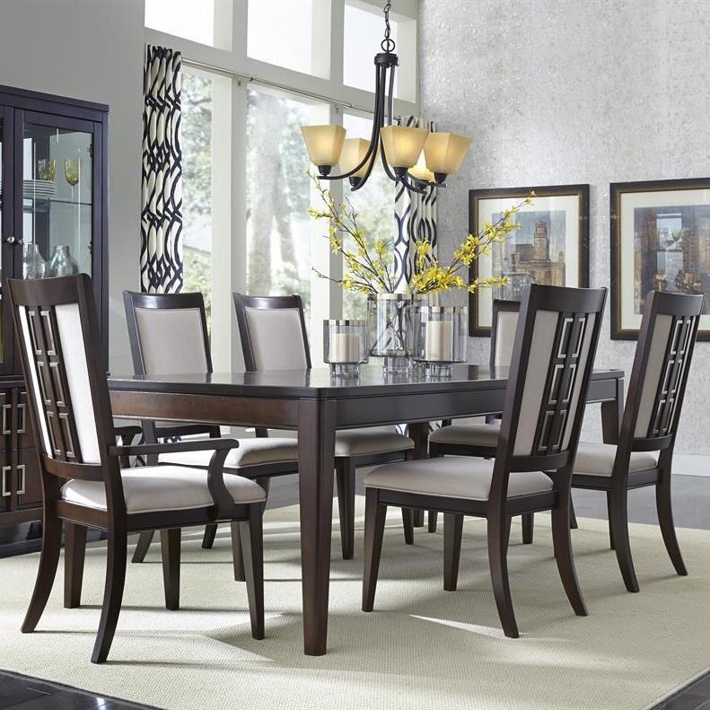 Samuel Lawrence Brighton 7 Piece Contemporary Dining Table Set