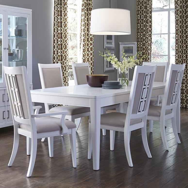 Good Samuel Lawrence Brighton 7 Piece Contemporary Dining Table Set