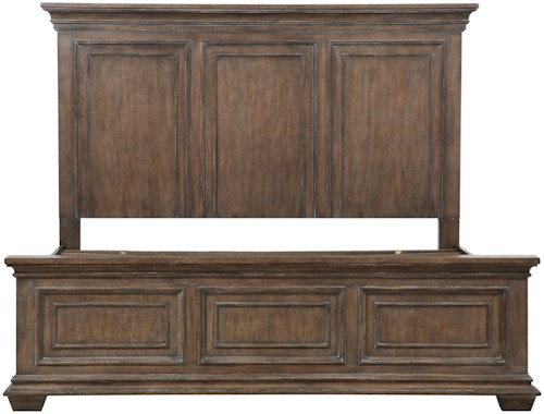 Samuel Lawrence Camden Queen Mansion Storage Bed with 4 Side Rail Drawers