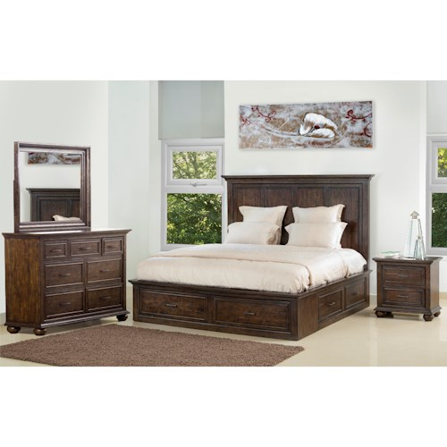 Samuel Lawrence Chatham Park Queen Bedroom Group 1 - Wayside ...