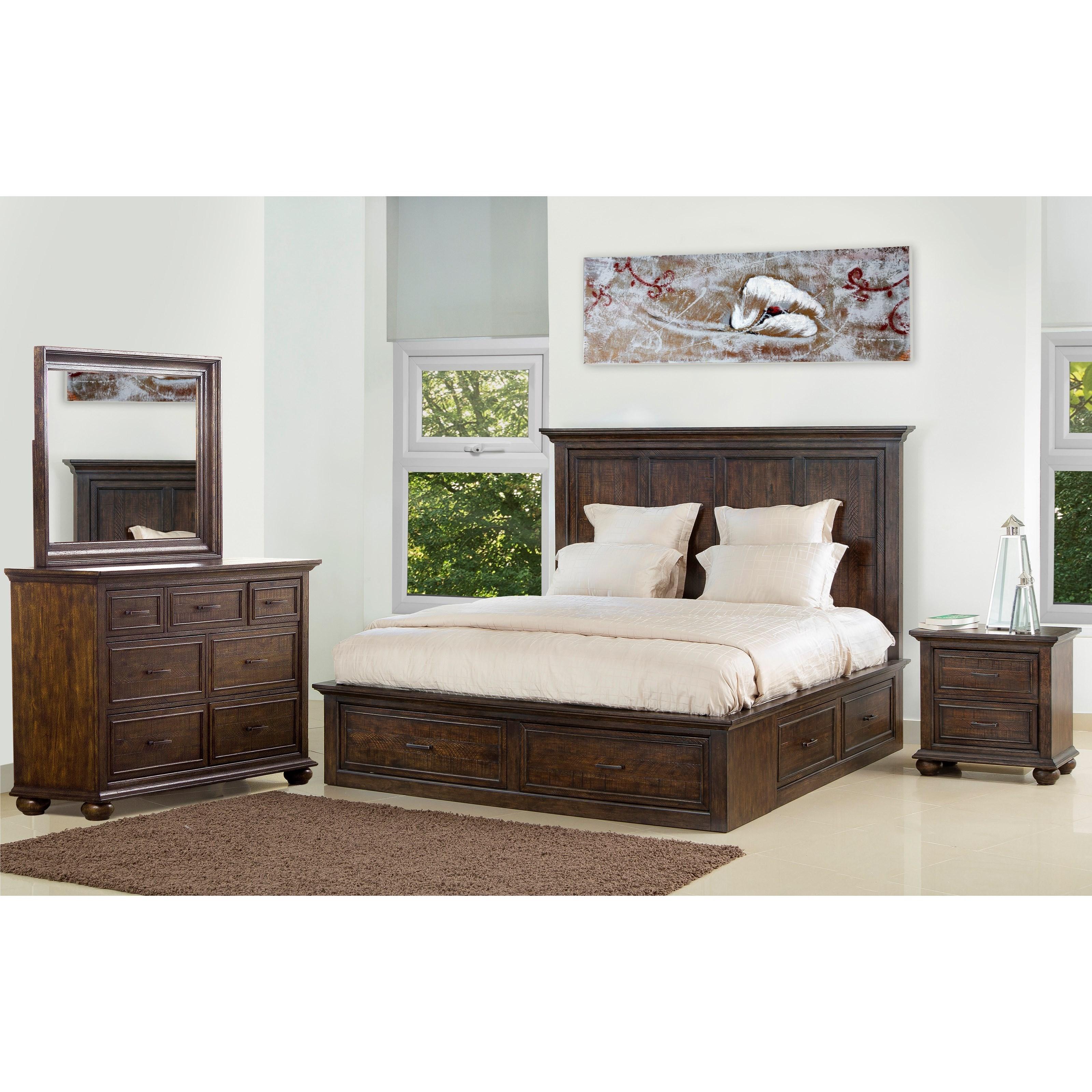 Superb Samuel Lawrence Chatham Park Queen Bedroom Group 1