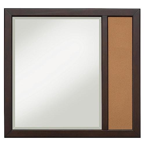 Kidz Gear Mason Casual Landscape Mirror with Corkboard