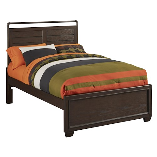Kidz Gear Mason Casual Twin Bed with Metal Headboard