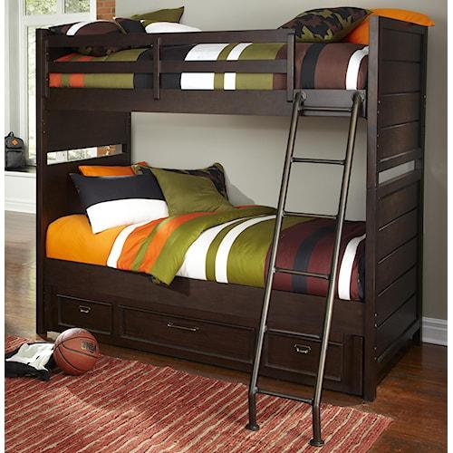 Kidz Gear Mason Twin over Twin Storage Bunk Bed