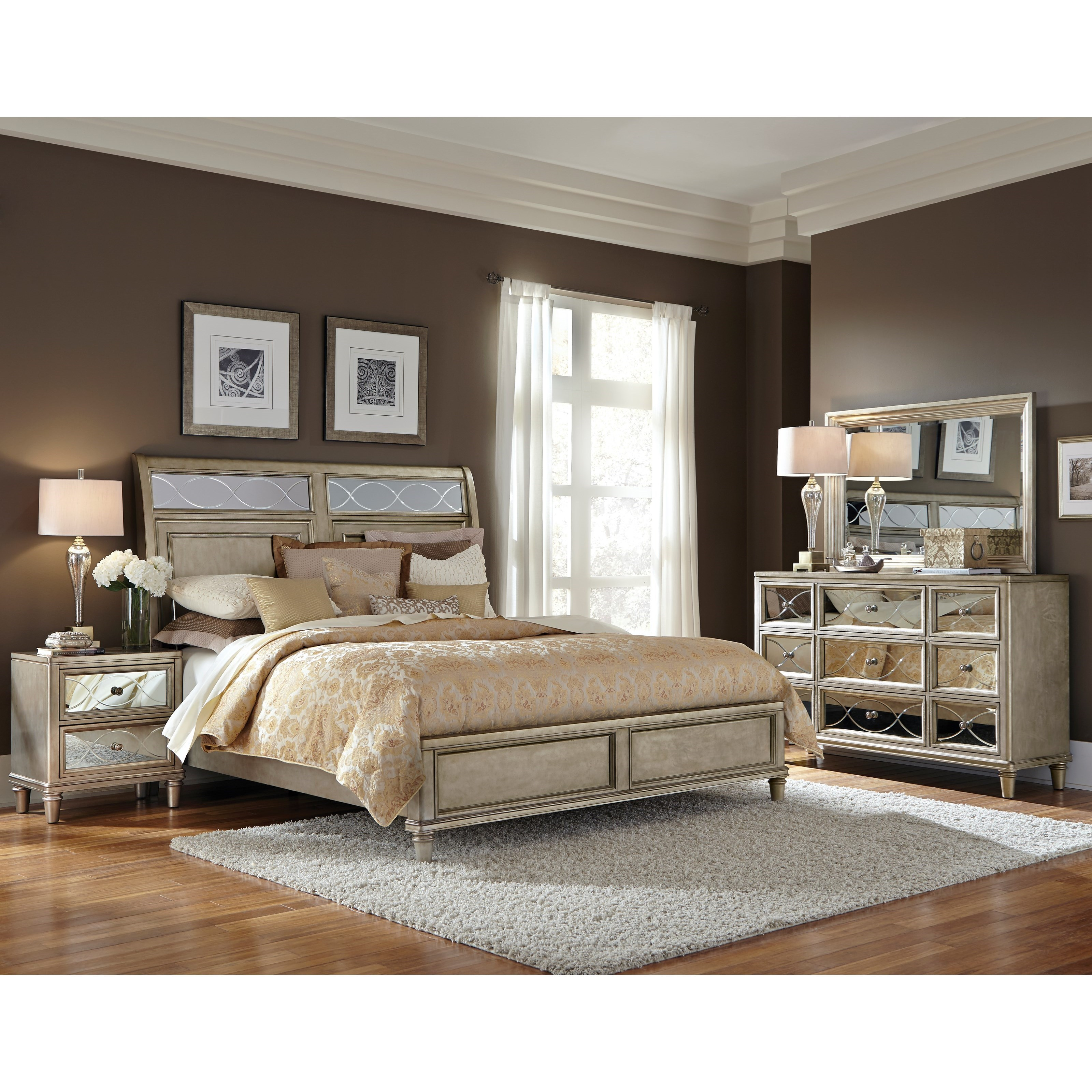Perfect Samuel Lawrence Cut Glass Queen Bedroom Group