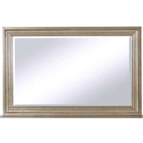 Samuel Lawrence Cut Glass Beveled Mirror