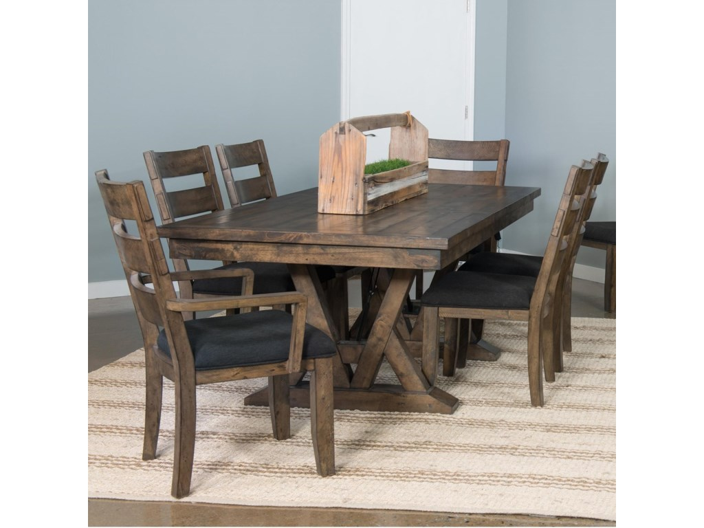 Samuel Lawrence Dakota7 Piece Table and Chair Set