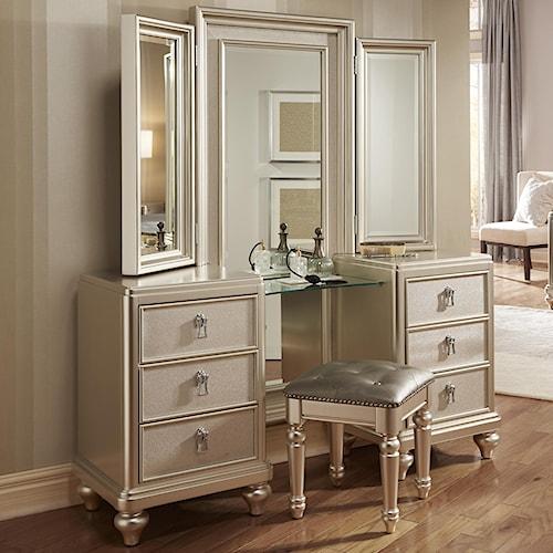 Samuel Lawrence Diva Vanity Dresser w/ Stool