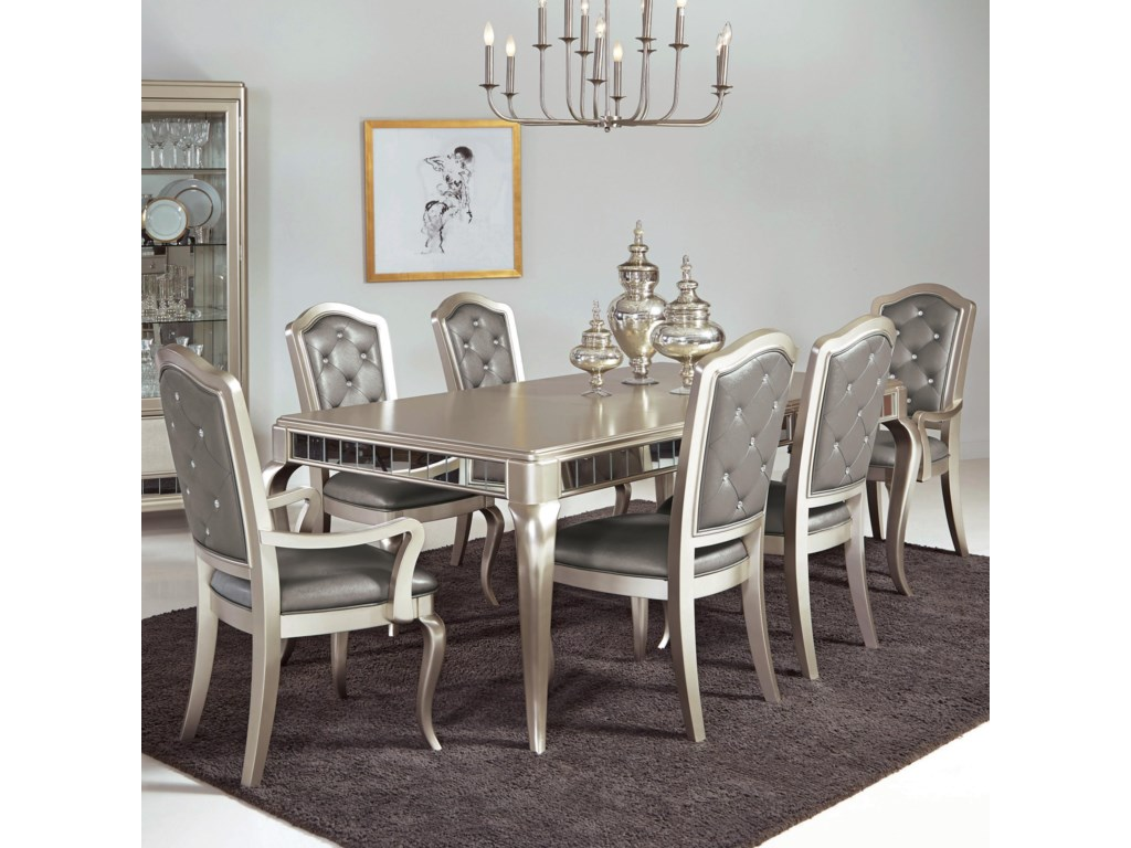 Samuel Lawrence Diva 7 Pc Table & Chair Set - Royal Furniture ...