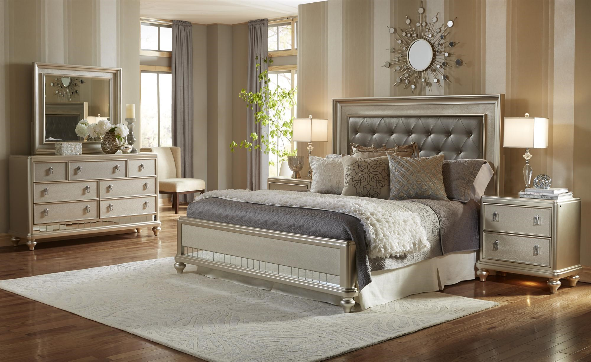 Samuel Lawrence Diva Queen 6 Piece Bedroom Group   Royal Furniture    Bedroom Groups