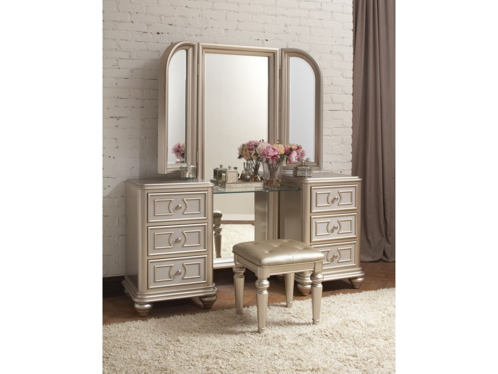 Samuel Lawrence DynastyVanity with Stool and Tri-View Mirror