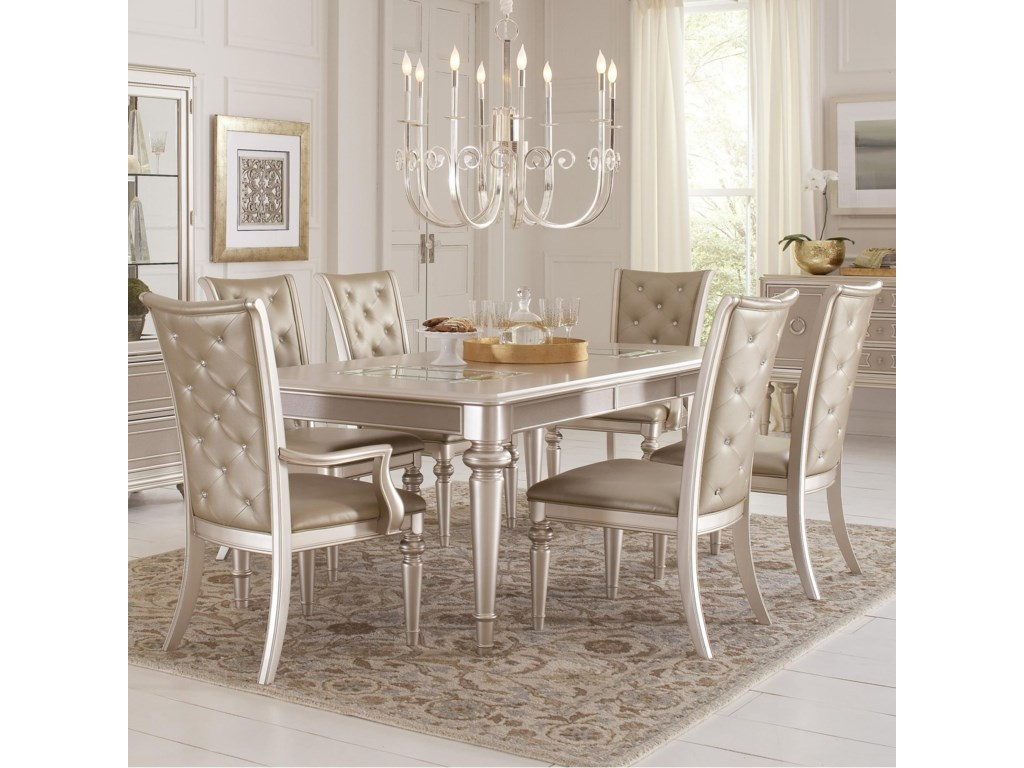 Samuel Lawrence Dynasty7 Piece Table and Chair Set