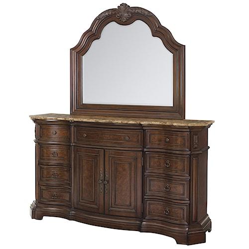 Samuel Lawrence Edington Door Dresser and Landscape Mirror Combo