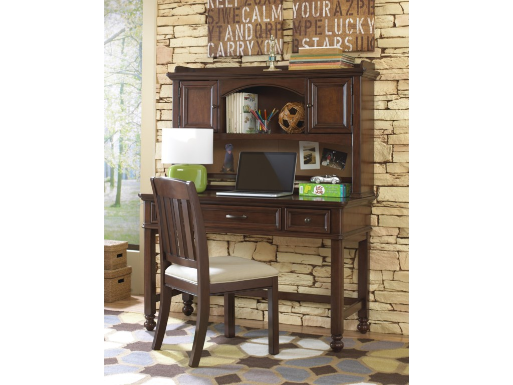 Shown with Desk and Desk Hutch
