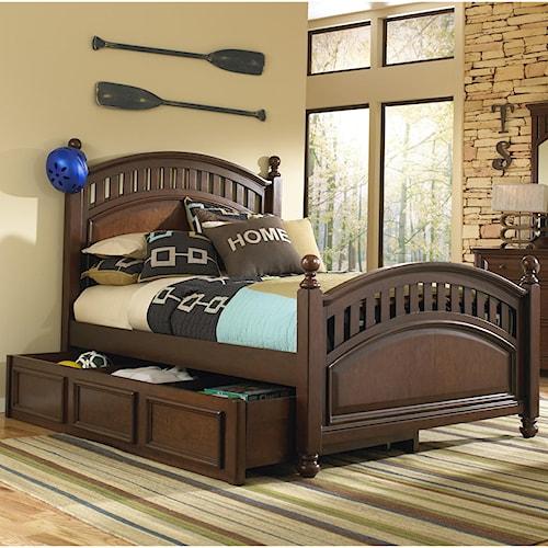 Kidz Gear Griffin Full Low Post Bed w/ Trundle Storage