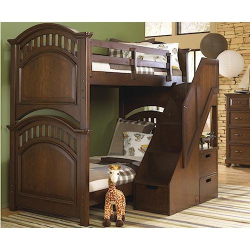 Kidz Gear Griffin Twin Bunk Bed w/ Steps