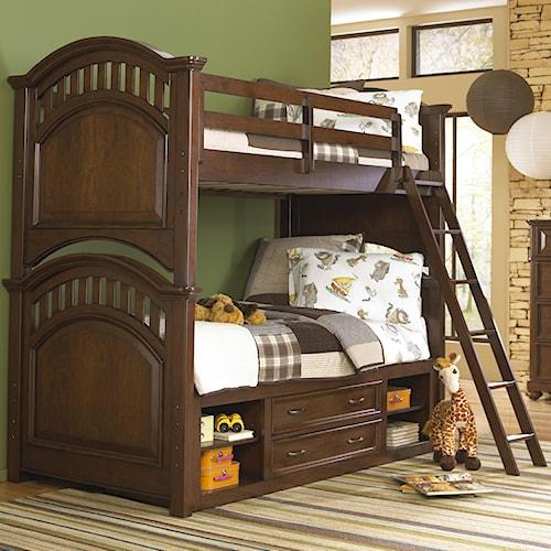 Kidz Gear Griffin Twin Bunk Bed w/ Ladder & Storage Unit