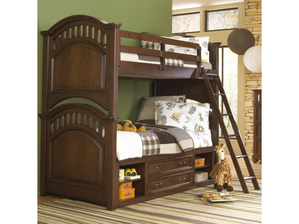 Samuel Lawrence Expedition YouthTwin Bunk Bed w/ Storage