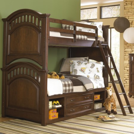 Twin/Full Bunk Bed w/ Storage