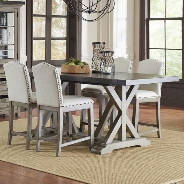 Samuel Lawrence Farmhouse 5-Piece Gathering Table Set with Plank Top ...