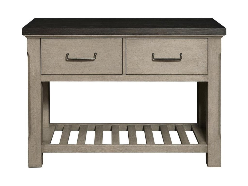 Farmhouse Kitchen Island With Contrasting Top Finish By Samuel Lawrence At Reeds Furniture