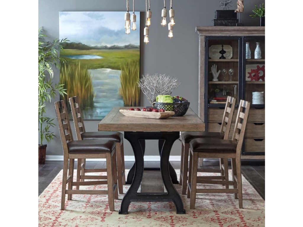 Samuel Lawrence Flatbush5 Piece Gathering Table and Chair Set