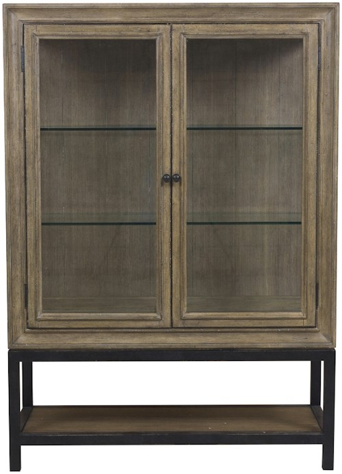 Samuel Lawrence Flatbush Two Door Display China Cabinet with Canister Lighting