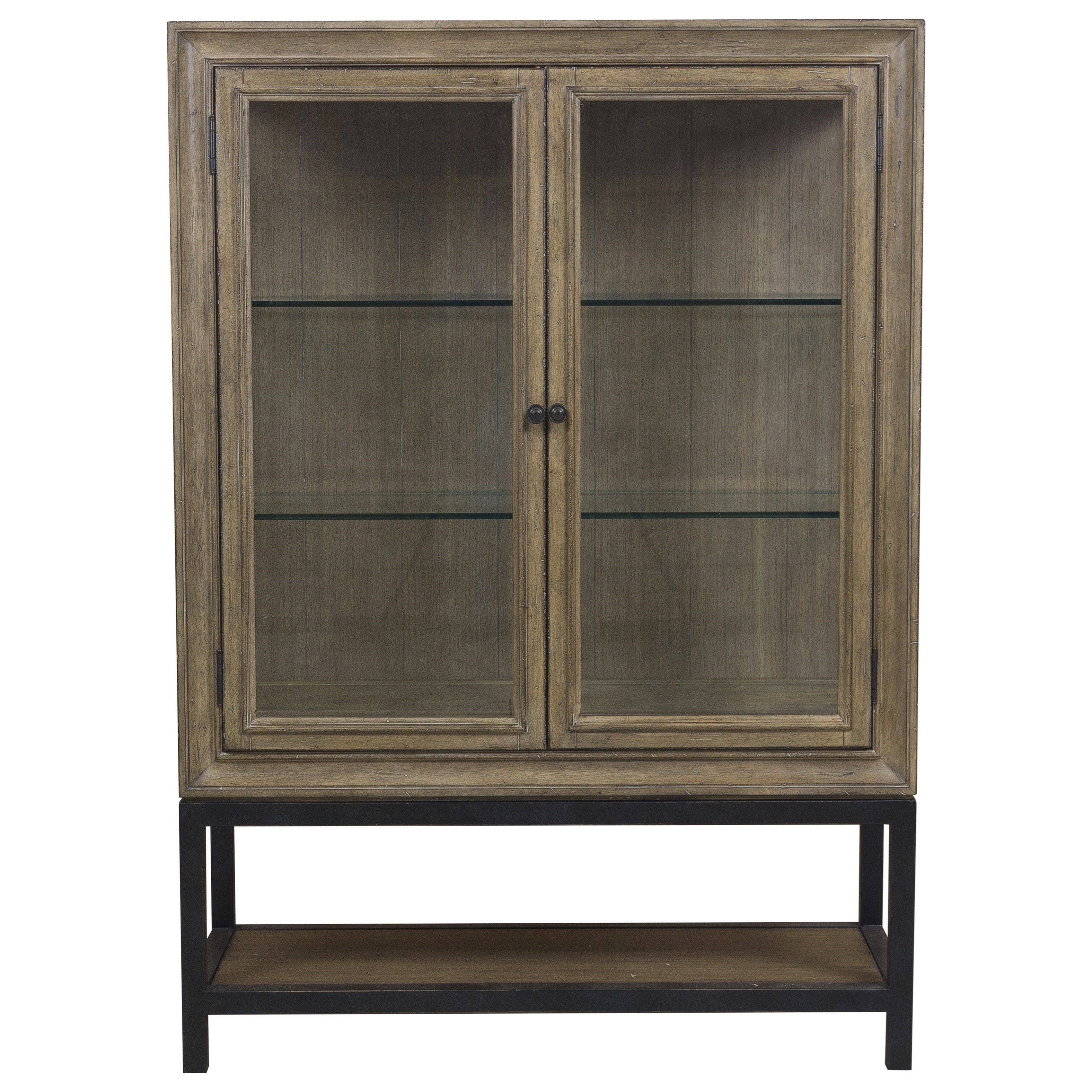 Samuel Lawrence Flatbush Two Door Display China Cabinet With Canister  Lighting   Royal Furniture   China Cabinets