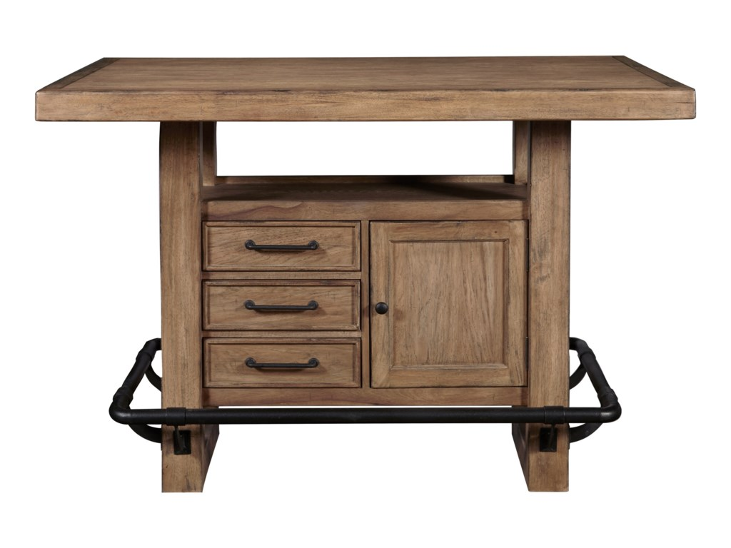 Samuel Lawrence Furniture City Brewing - Blonde5-Piece Storage Leg Bar Table Set