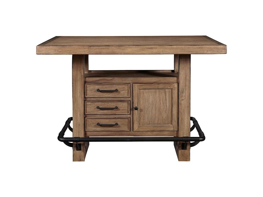 Samuel Lawrence Furniture City Brewing - BlondeStorage Leg Bar Table