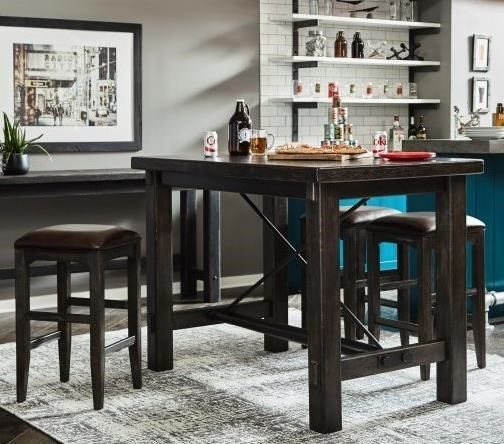 Samuel Lawrence Furniture City Brewing   Stout5 Piece Bar Leg Table Set