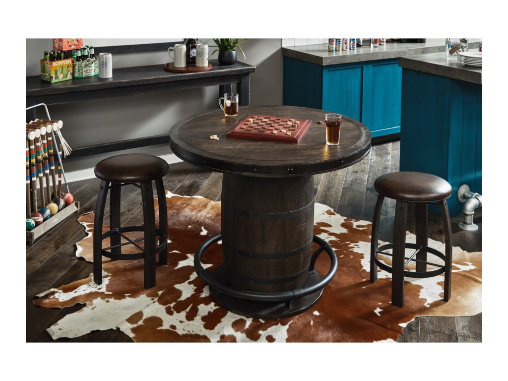 Samuel Lawrence Furniture City Brewing - StoutWhiskey Barrel Gathering Table