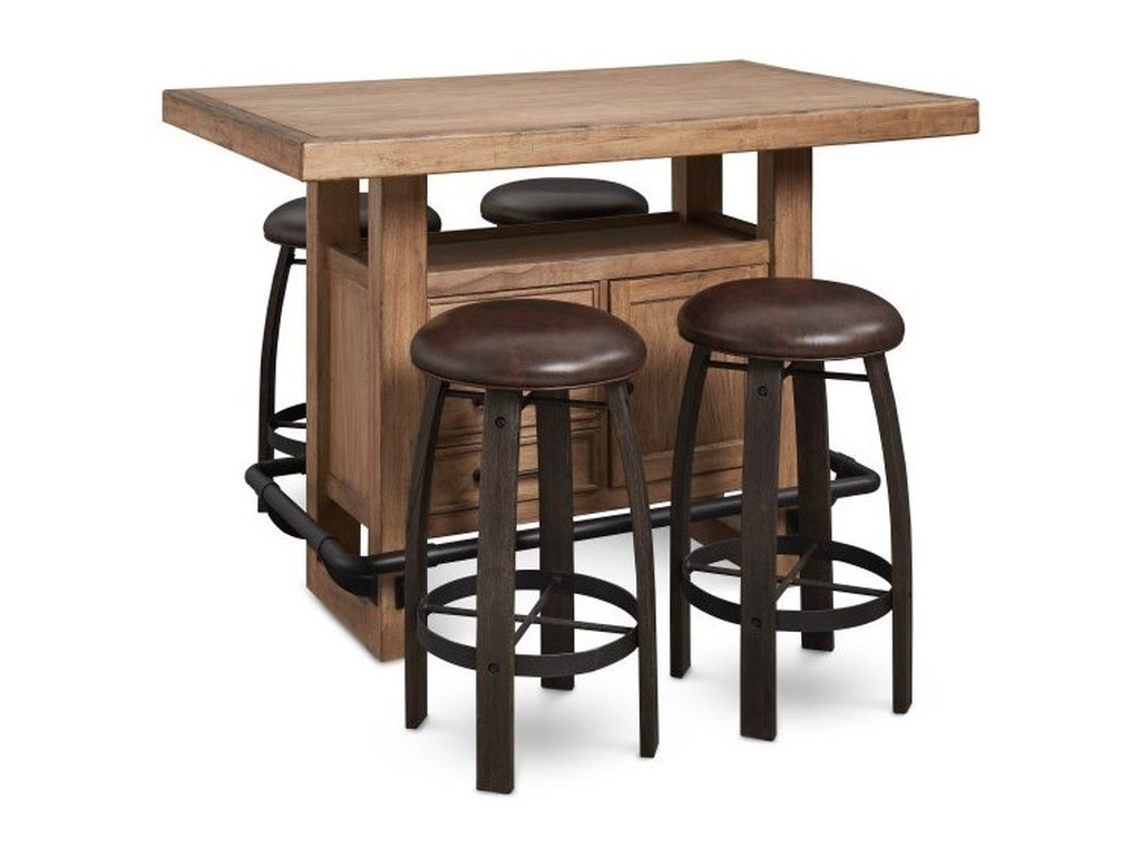 Samuel Lawrence Furniture City Brewing - StoutWhiskey Barrel Bar Stool