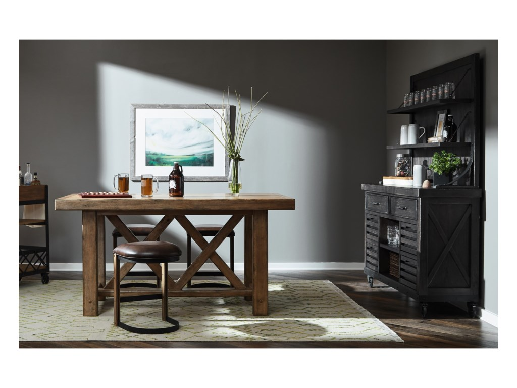 Samuel Lawrence Furniture City Brewing - StoutDraft House Cabinet & Hutch