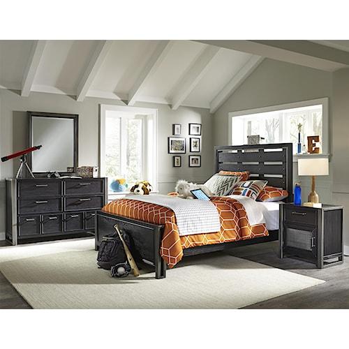Samuel Lawrence Graphite Full Bedroom Group