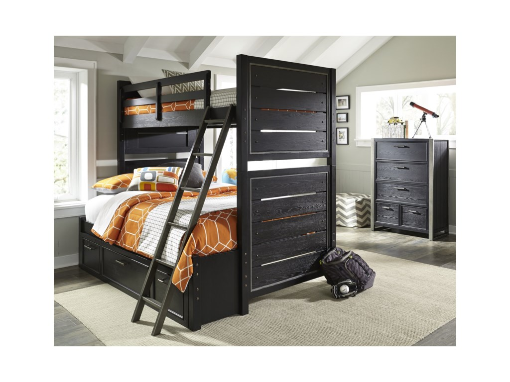 Samuel Lawrence GraphiteTwin-Over-Full Bunk Bed