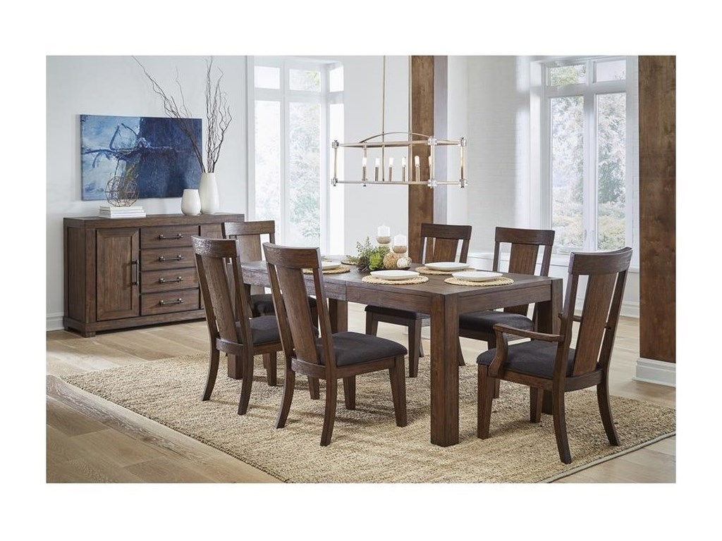 Samuel Lawrence Henna7 Piece Table and Chair Set