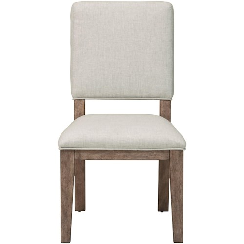 Samuel Lawrence Highland Park Side Chair with White Upholstered Seat and Back