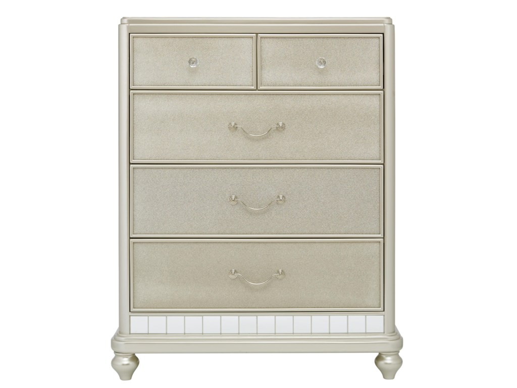 Samuel Lawrence Lil Diva Tall Drawer Chest W Mirror Paneling