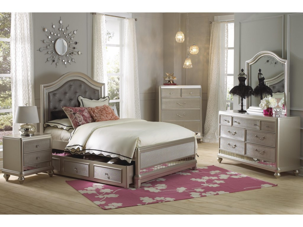 Samuel Lawrence Lil Diva Tall Drawer Chest w/ Mirror Paneling ...