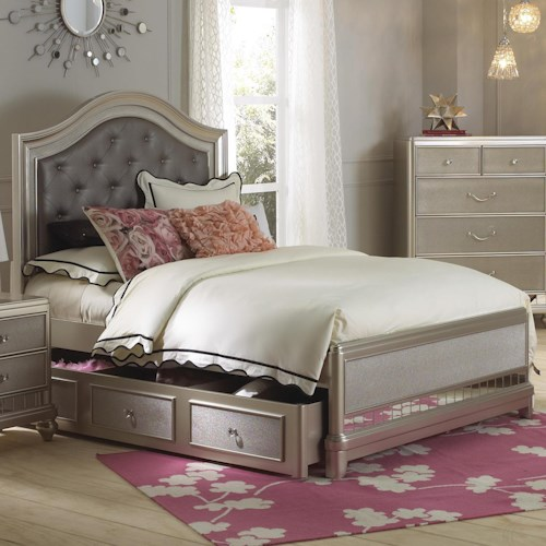 Samuel Lawrence Lil Diva Full Panel Bed W Trundle Godby